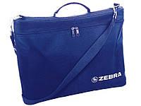 Сумка Zebra_ткн 2721 синий с ремнем синяя