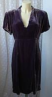 Платье женское элегантное шикарное велюр вискоза шелк Mamas&Papas р.52 6264
