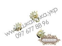 Серебряный гарнитур с золотом и жемчугом №62о