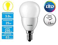 Лампа светодиодная PHILIPS_CorePro LEDluster 3-25W(250Lm) E14 827 P48 FR_E14