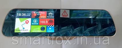 Зеркало заднего вида на Android с регистратором + 2 камеры Х5Е 5 HD Gold  Блютус, фото 2