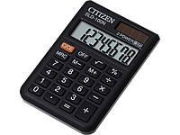 Калькуляторы карманные Citizen SLD-100N черный 8 разряд, 57х87х11,  ПВХ обклад, резин кн