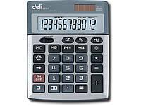 Калькуляторы бухгалтерские Deli 1207 12 разряд, 139х105х30, метал корп