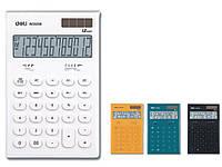 Калькуляторы бухгалтерские Deli 39208Е микс 12 разряд, 165х108х26, LCD пласт кн