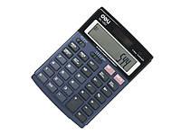 Калькуляторы бухгалтерские Deli 1237E синий 12 разряд, 152х110х30, метал корп, градиентн экран
