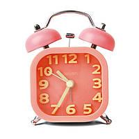 Часы настольные Deli 9035 микс 84х56х112 квадратный корпус