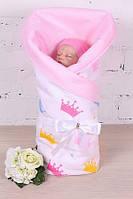 """Весенний конверт-одеяло для новорожденных для девочки """"Valleri"""" (Королевский), фото 1"""
