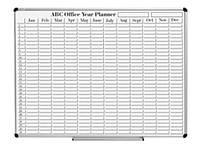 Доска-планер Авс 209012 90x120 на год, лакир. сталь, магн, алюм рама, полка