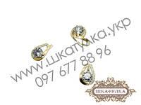 Серебряный гарнитур с золотом №68о, фото 1