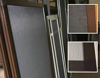 Москитная сетка на окно коричневая