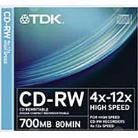 Диск Tdk CD-RW80 700 MB 4х-12x