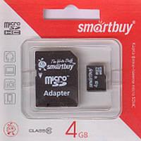 Флеш-карти Smartbuy 36176 micro SDHC  4GB Class 10 (с адаптером SD)
