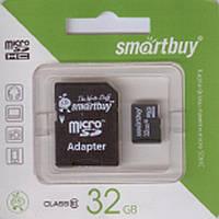 Флеш-карти Smartbuy 36187 micro SDHC  32GB Class 10 (с адаптером SD)