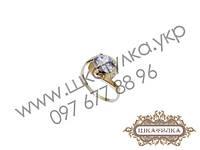 Серебряное кольцо с золотом и цирконом №68о