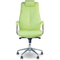 Кресла офисные для руководителей нс LE-G фисташковый Sonata Steel Chrome