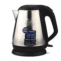 Электрический чайник Deli 0763 белый 1,5л металический корпус