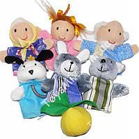 """Набор игрушек ЧудиСам В027 Пальчиковый театр """"Репка"""" (7 персонажей, высота 8-9см)"""