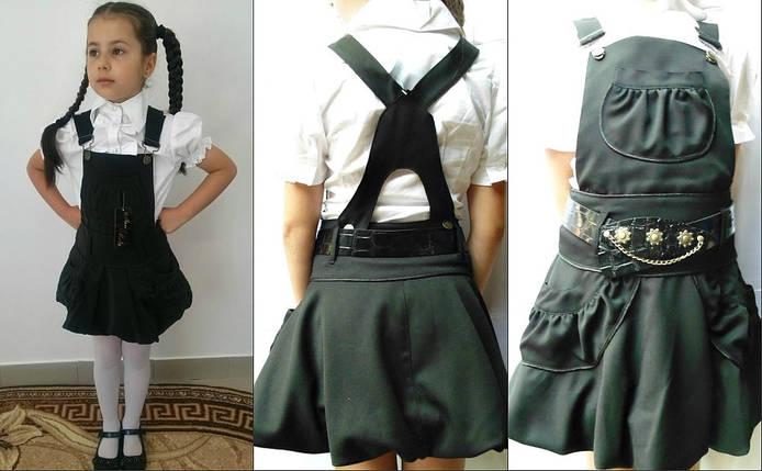 """Детский школьный шерстяной сарафан """"Laura"""" с карманами, фото 2"""