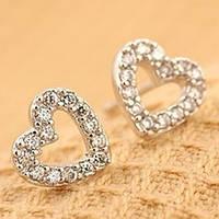 Сережки срібні сердечка