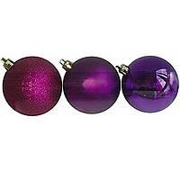 Шар елочный Новогодько 971636 фиолетовый 4см 12шт