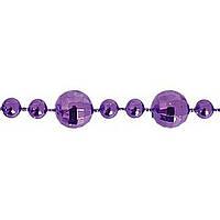 """Бусы Новогодько 972087 фиолетовый 8ммх3м """"Ягоды смородины"""""""