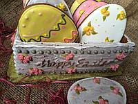 Пасхальная корзина с яйцами, фото 1