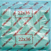 "Пакеты полиэтиленовые * 22(5)х36 7мк 100шт фасовка ""майка"""