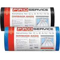 Пакеты для мусора PROservice 16201770 (16201771) черный п/е 120л 10шт 70х110 ЛД