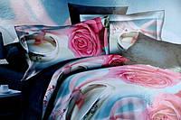 Постельное белье двуспальное Лилия с HD эффектом розы