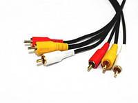 Кабель 3RCA-3RCA 1.5 м аудио видео кабель тюльпан 3RCA тюльпана на 3RCA тюльпана audio video cable