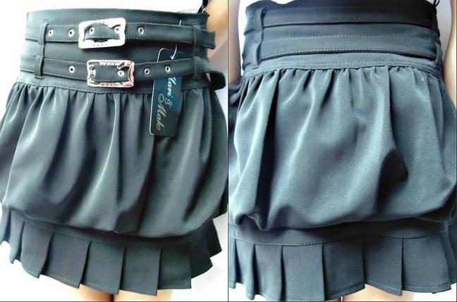"""Оригинальная школьная подростковая юбка """"Елена"""" со складками и ремешками, фото 2"""