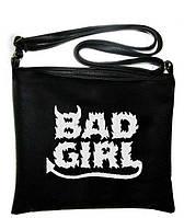 Сумка с вышивкой «BAD GIRL»