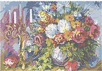 """Схема для вышивки бисером """"Цветы и свечи"""".(Круговая вышивка)"""