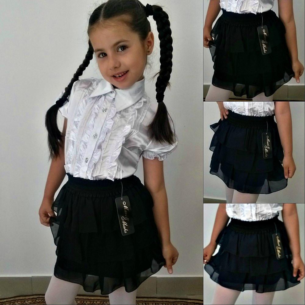 """Детская шифоновая юбка """"Madison"""" с оборками"""