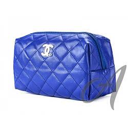 Косметичка стеганая Chanel  синяя