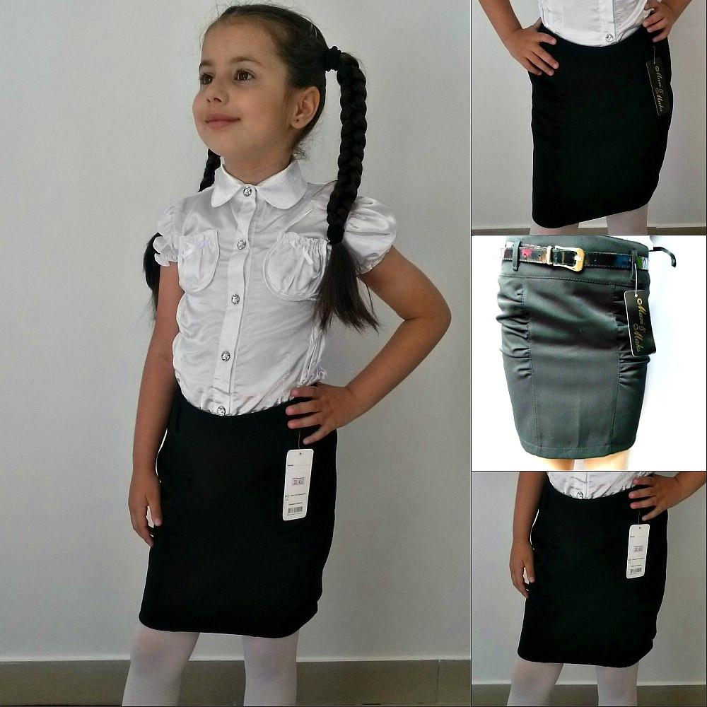 """Подростковая школьная юбка-карандаш """"Tiffany"""" с завышенной талией"""