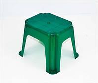 """Стульчик маленький прямоугольный - цвет темно-зеленый """"K-PLAST"""""""