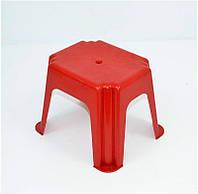"""Стульчик маленький прямоугольный - цвет темно-красный """"K-PLAST"""""""
