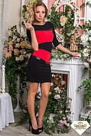 Короткое комбинированное платье