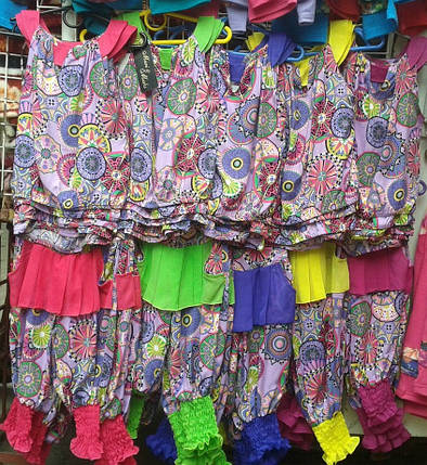 "Детский летний костюм для девочки ""Евгения"" блуза и бриджи с карманами (2 цвета), фото 2"