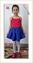 """Стильная подростковая юбка-колокол """"Бант"""" со складками (3 цвета), фото 2"""