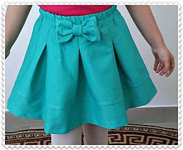 """Стильная детская юбка-колокол """"Бант"""" со складками (3 цвета), фото 2"""