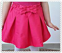 """Стильная подростковая юбка-колокол """"Бант"""" со складками (3 цвета)"""