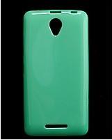 Чехол накладка для Lenovo A5000 силиконовый глянцевый, Fresh Series Мятный