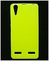 Чехол накладка для Lenovo A6000 силиконовый глянцевый, Fresh Series Лайм
