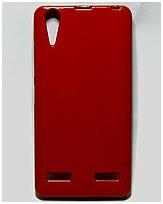 Чехол накладка для Lenovo A6000 силиконовый глянцевый, Fresh Series Бордовый