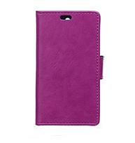 Чехол для Lenovo A6000 книжка боковой с отсеком для визиток, гладкая кожа Фиолетовый