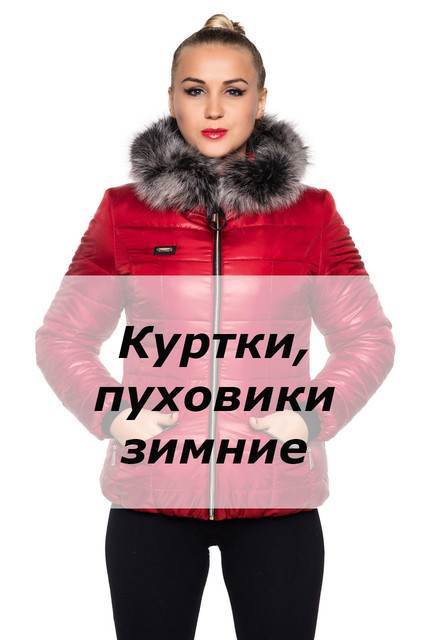 Куртки, пуховики женские зимние