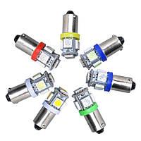 Светодиодная лампа цоколь T8 (T4W BA9s) 5-SMD 5050, 24В