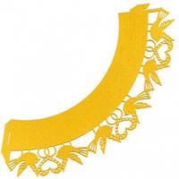 0358 Накладка декоративная ажурная для маффинов (1уп=20шт), кондитерские принадлежности